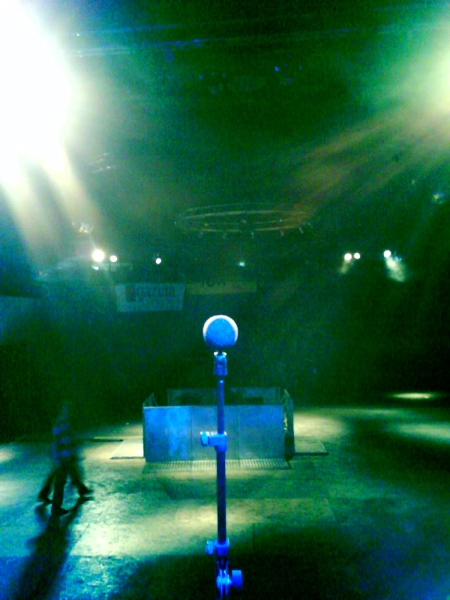 The view I had when sound checking