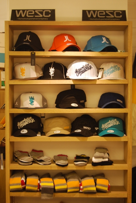 A wide range of caps