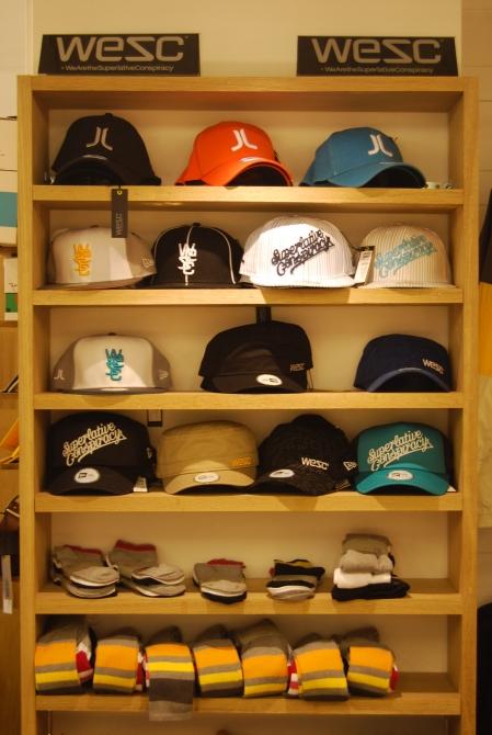 A wide range of caps