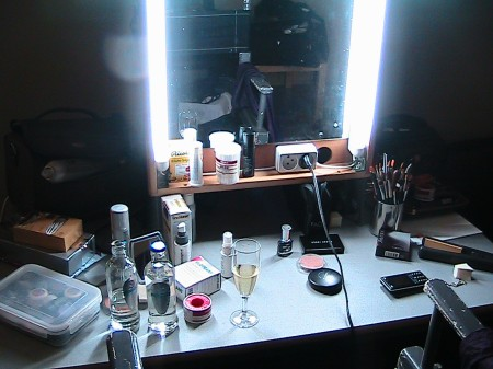 Lisa´s makeup area